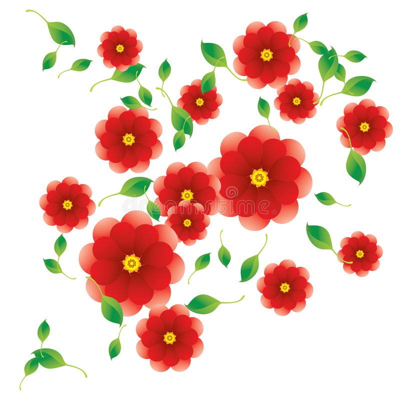 Roses illustration stock