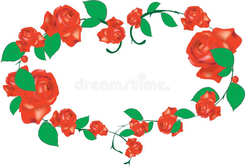 Download Roses stock vector. Illustration of roses, stem, paintings - 7841432