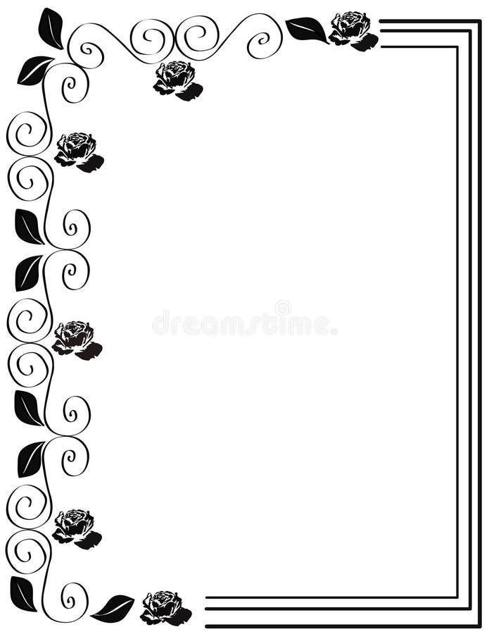 Roses frame vector illustration