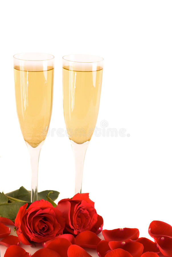Free Roses An Champagne Stock Photography - 12713662