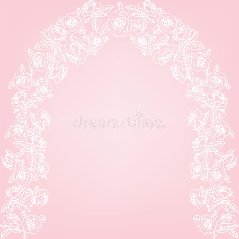 Roses arch vector illustration