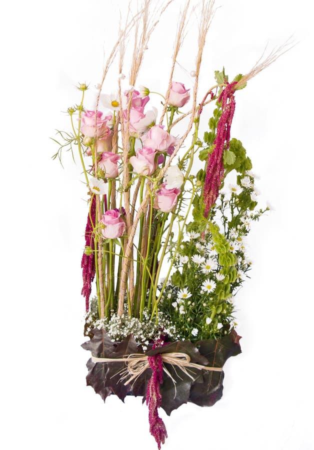 Roses arrangement stock photos