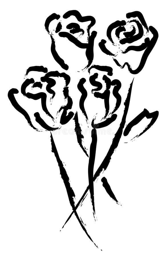 Roses artistiques illustration stock