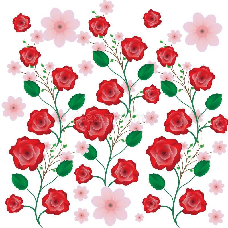 Roses background pattern vector illustration