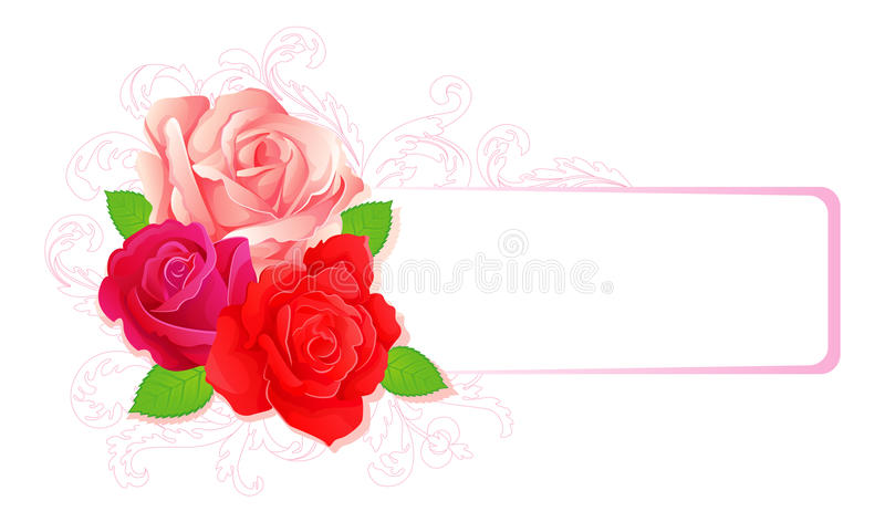 Download Roses banner stock vector. Image of fashion, leaf, classical - 18061733