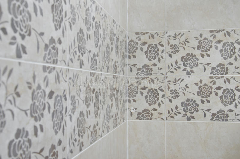 Roses Bathroom tile wall royalty free stock images