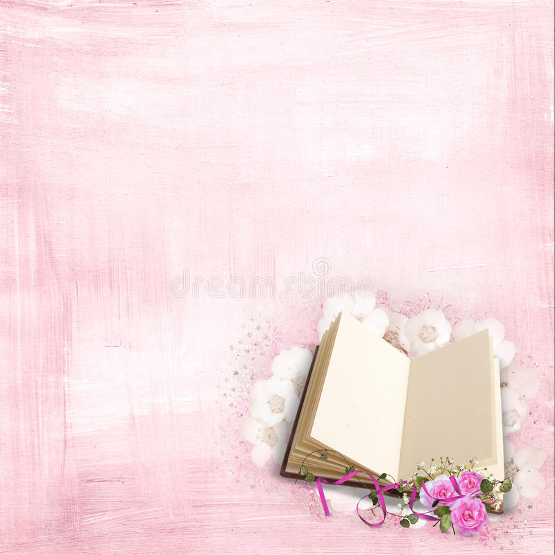 Roses on a book stock illustration