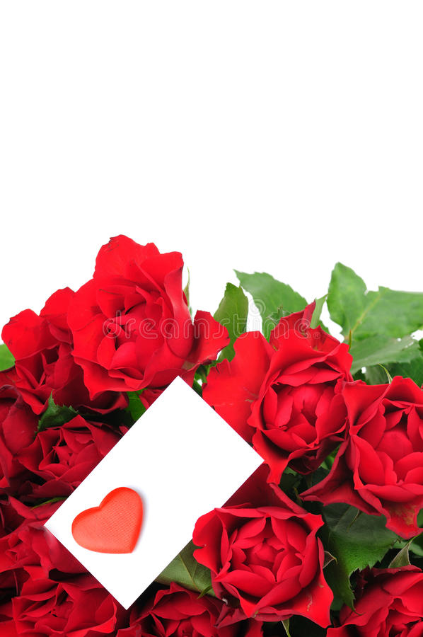 Download Roses Bouquet And Valentine Card Stock Image - Image: 12604323