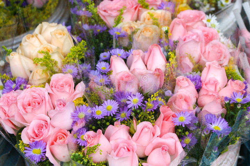 Roses in bouquets. This is roses in bouquets royalty free stock photography