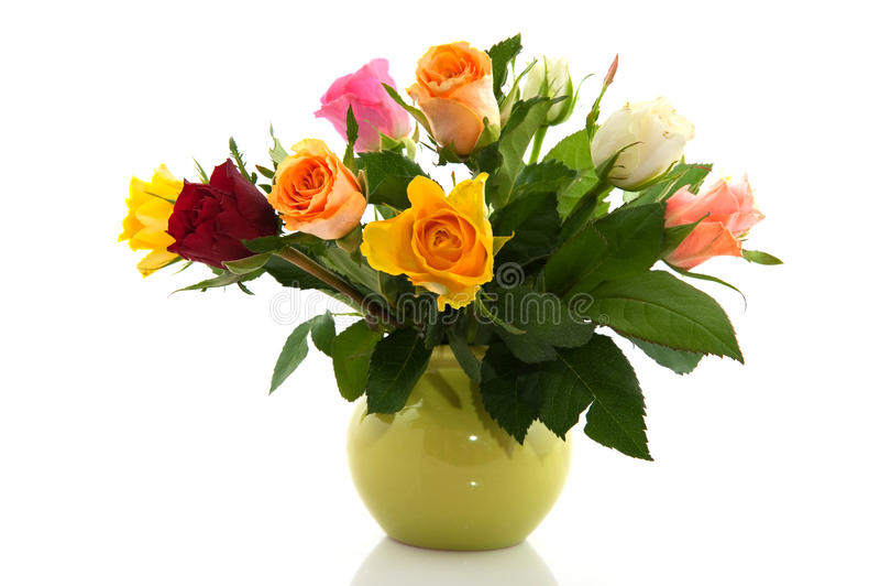 Roses colorées de bouquet photos stock