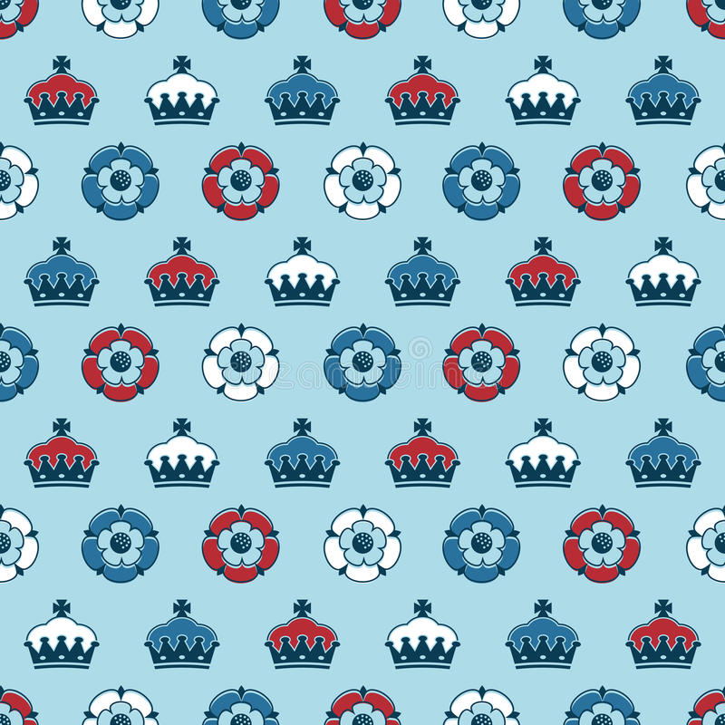 Download Roses and crowns pattern stock vector. Image of crest - 24932927