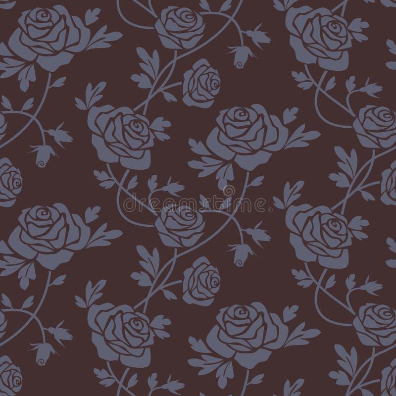 Roses damask seamless pattern vector illustration