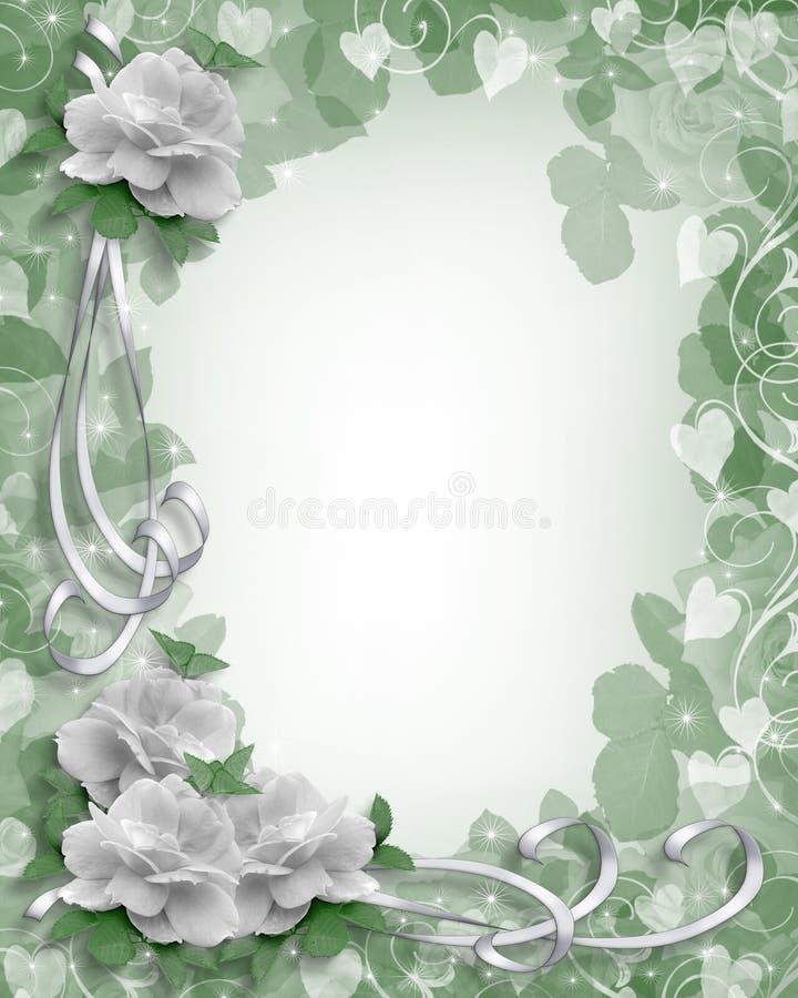 Roses de blanc de cadre de mariage illustration libre de droits