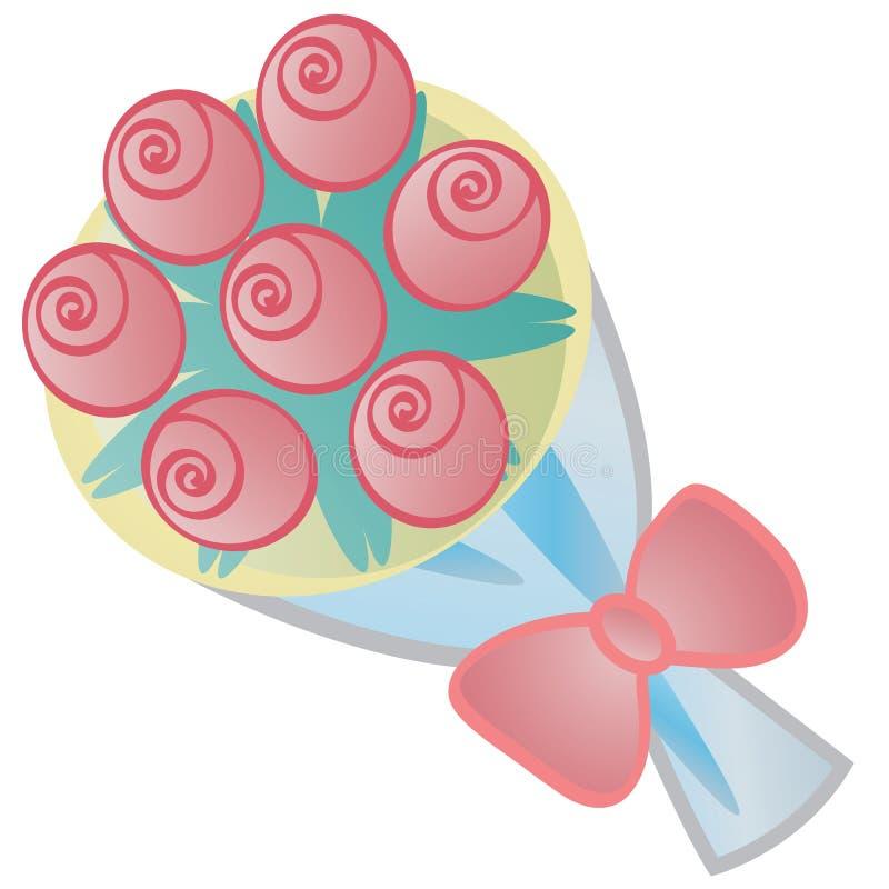 roses de bouquet illustration de vecteur