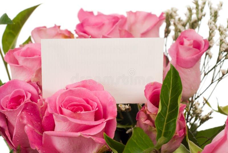 roses de message de carte photos stock