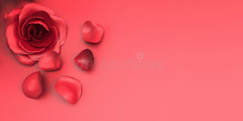 Roses de Saint Valentin de carte de voeux à l'amour et à l'arrière-plan images libres de droits