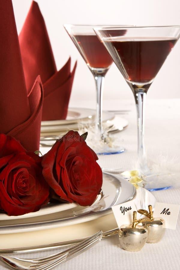 Roses de table de mariage images stock