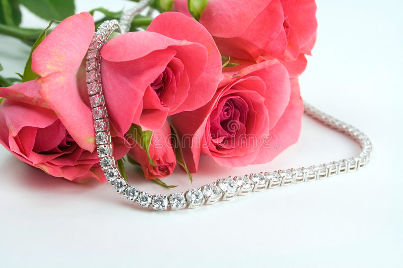 Download Roses and diamonds stock photo. Image of diamond, close - 1759556