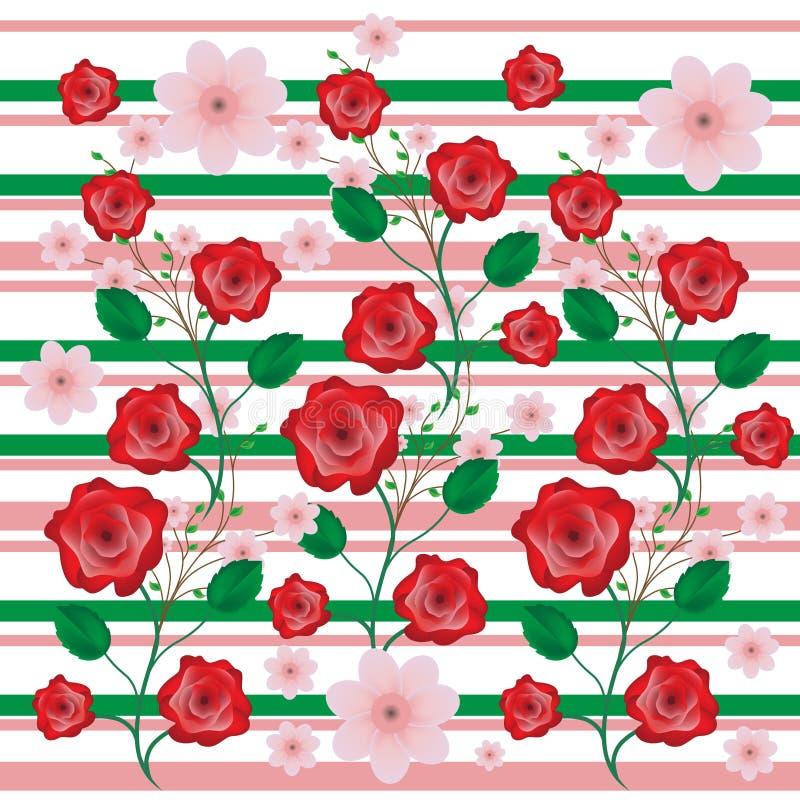 Roses flowers background royalty free illustration