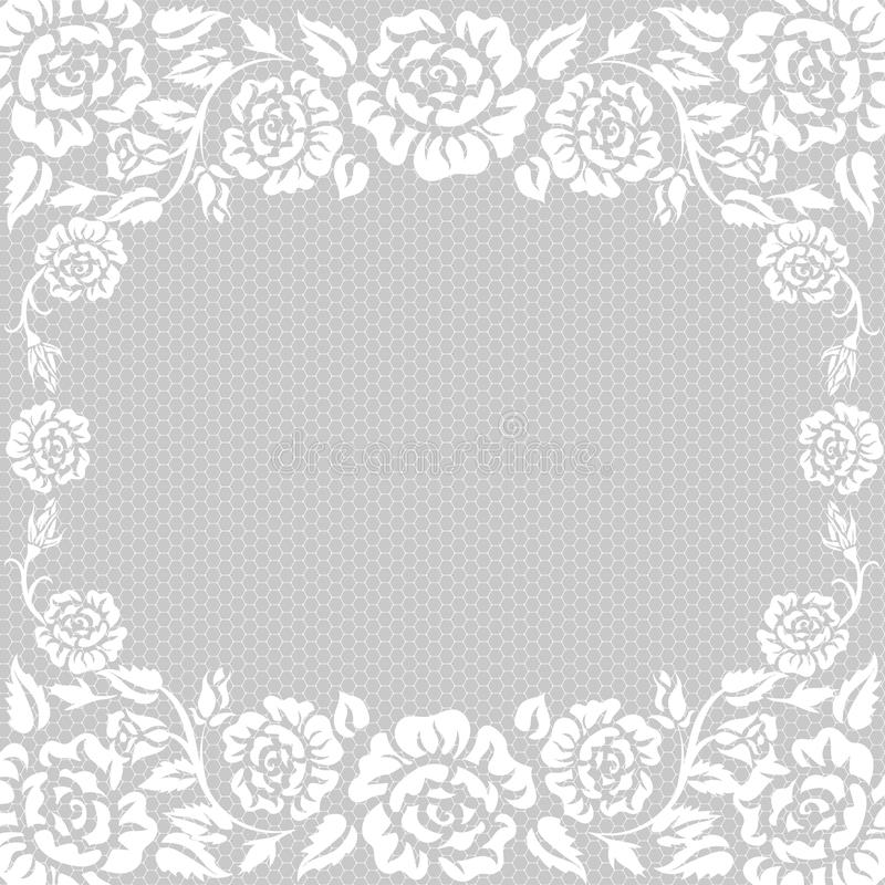 Roses frame royalty free illustration