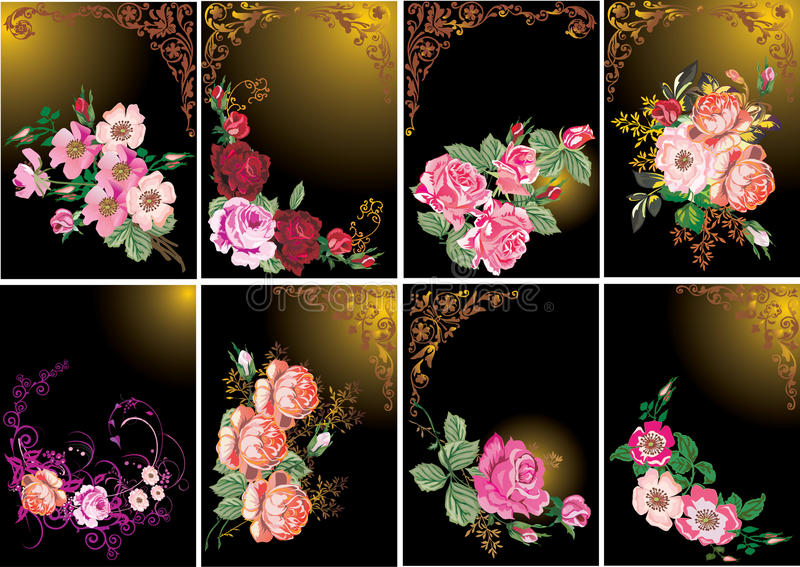 Roses In Frames Collection Stock Images