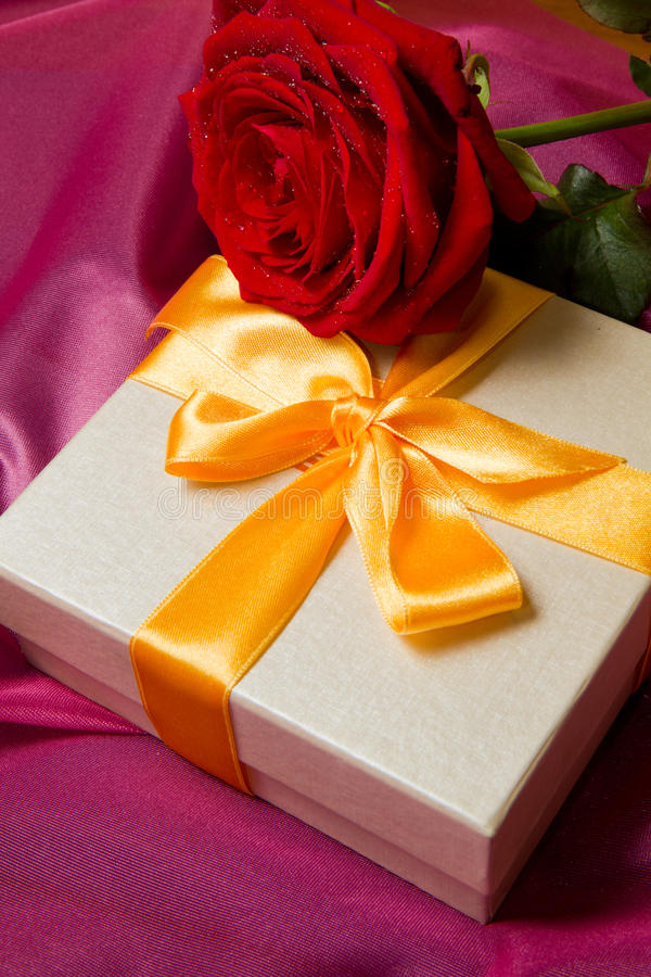 Download Roses and gift box stock photo. Image of mood, love, concept - 17975490