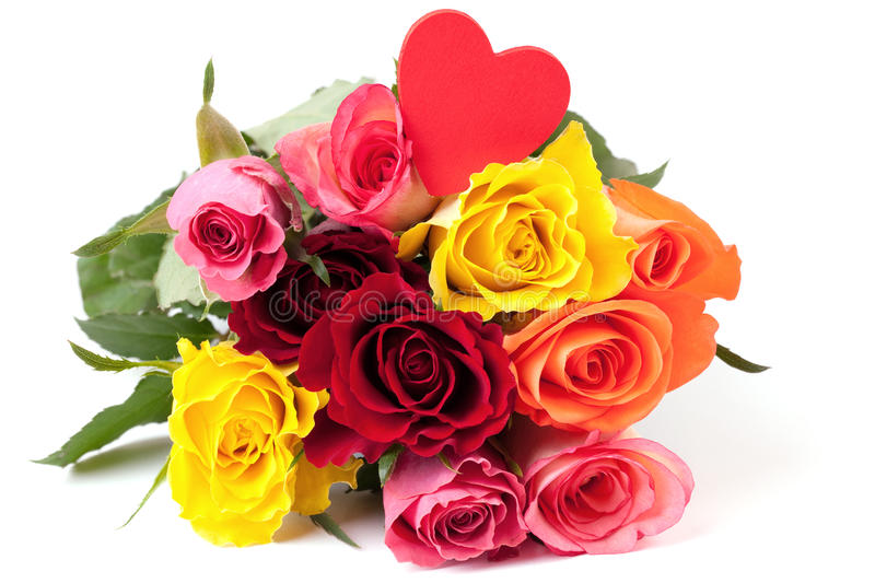 Roses With Heart Stock Image