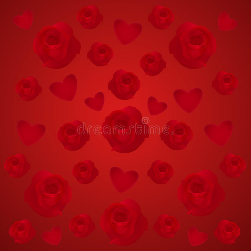 Download Roses and hearts stock image. Image of holiday, flower - 28997945
