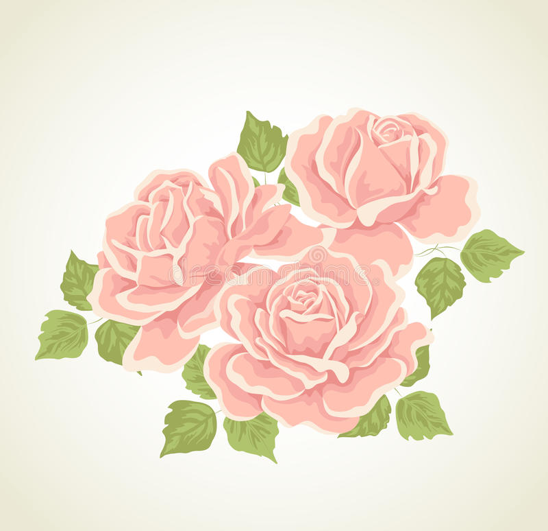 Free Roses. Illustration With Flowers Bouquet. Royalty Free Stock Photos - 22498018