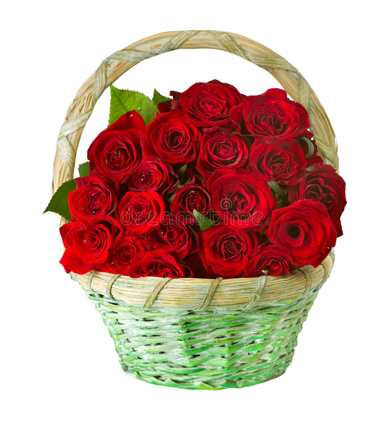 Free Roses In The Basket Stock Photography - 23018852