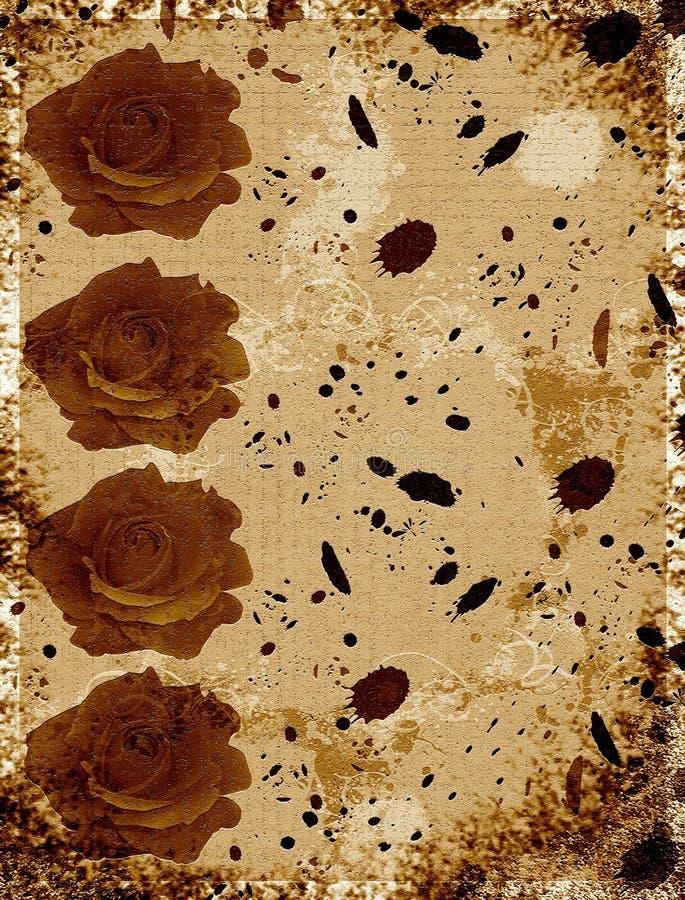 Roses Invitation Card Royalty Free Stock Image