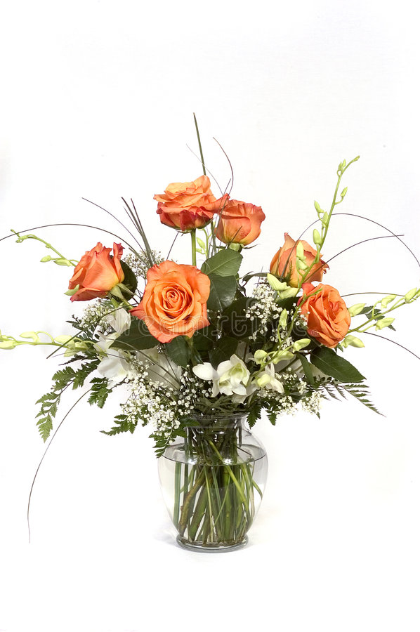Download Roses and orchids stock photo. Image of flowers, roses, present - 67568