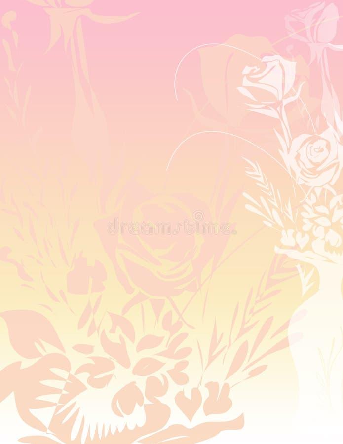 Roses Paper Background vector illustration