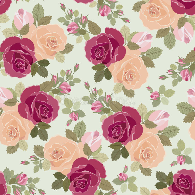 Download Roses pattern stock vector. Image of floral, fashion - 18531530