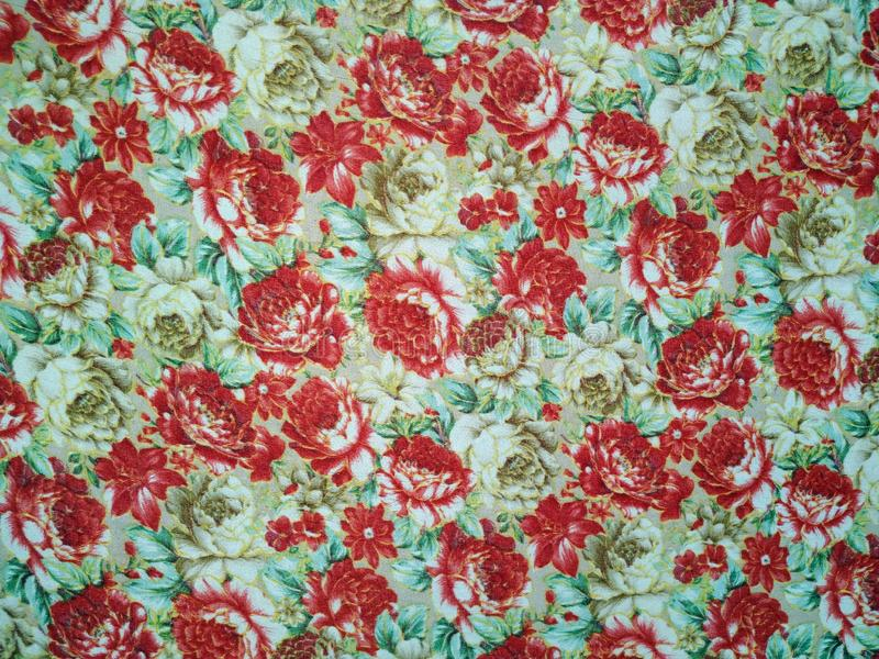 Roses pattern bunch of flowers, repeating print for fabric stock illustration