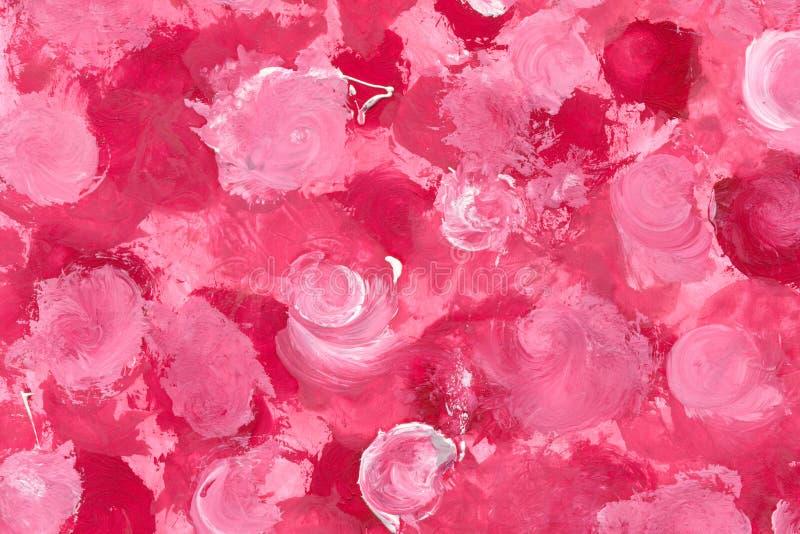 Roses peintes illustration stock