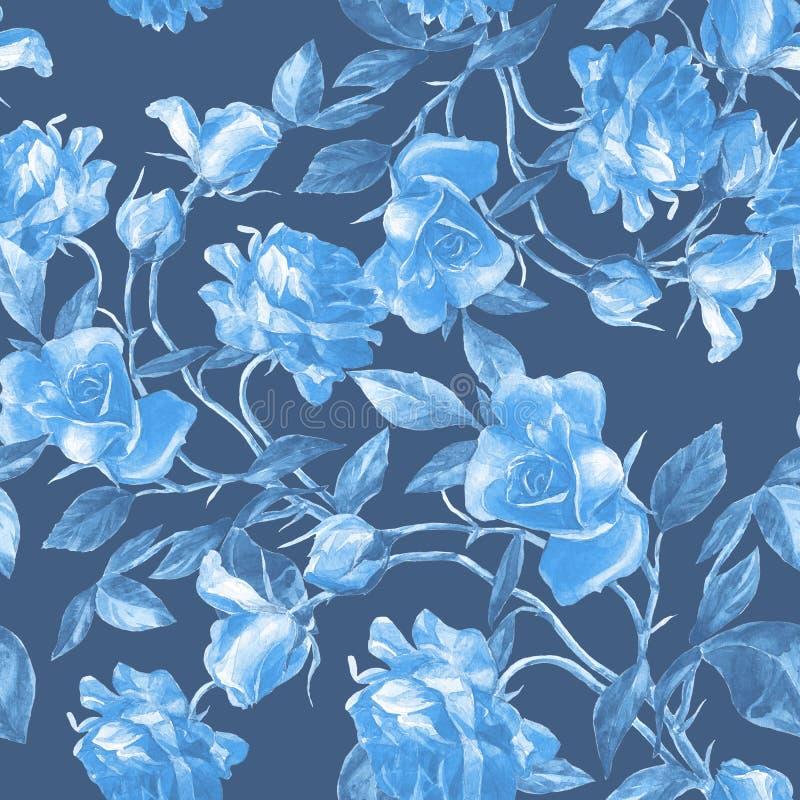 Roses peintes dans l'aquarelle photographie stock libre de droits