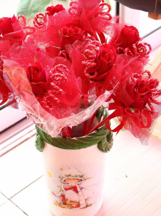 Roses pour la valentine images libres de droits