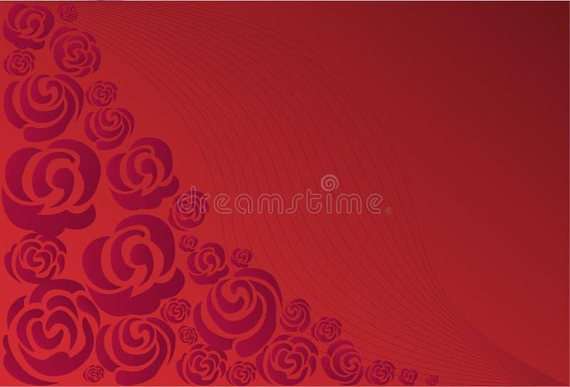 Roses pourprées illustration stock