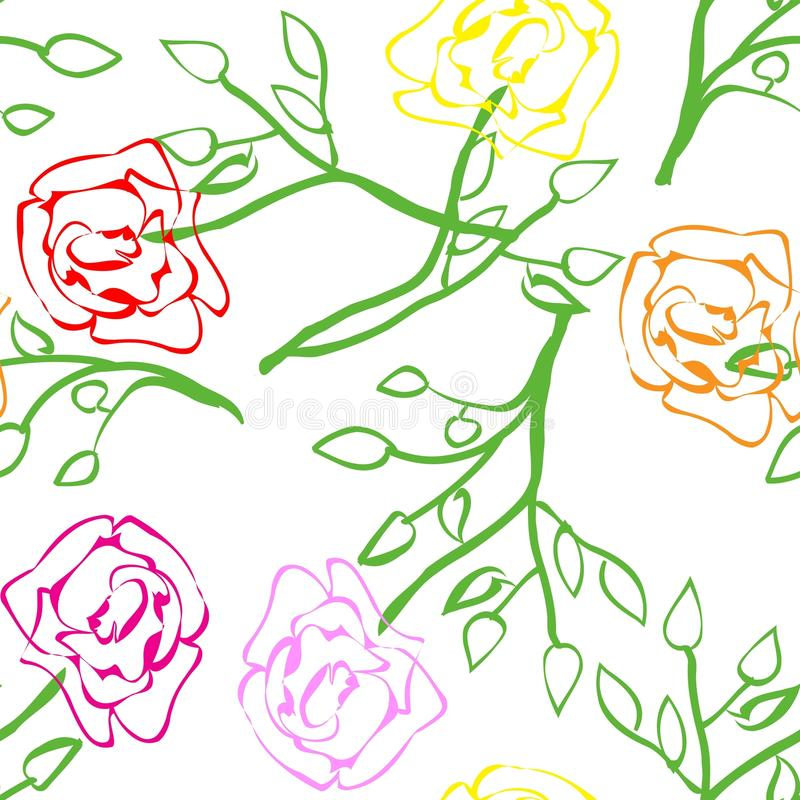 Roses Repetition Royalty Free Stock Images
