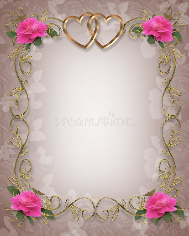 Roses roses Wedding le cadre illustration stock