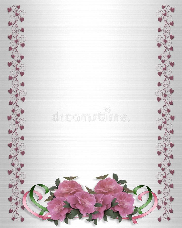 Roses roses Wedding le cadre illustration de vecteur