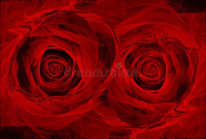 Roses rouges illustration stock