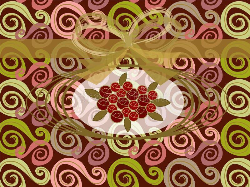 Roses rouges sur des remous de cru illustration de vecteur