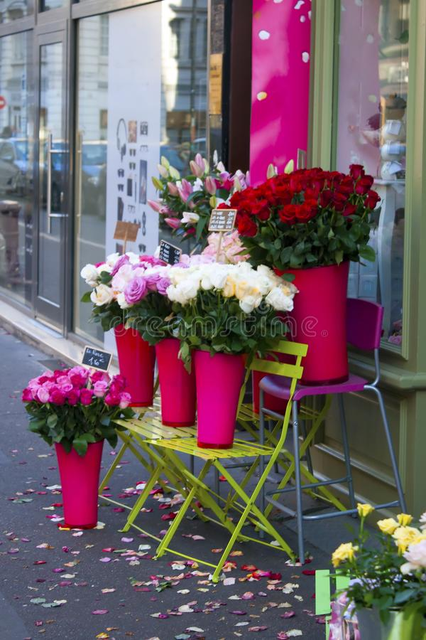 Download Roses For Sale On The Sidewalk Stock Image - Image of color, display: 110576231