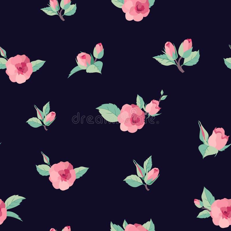 Roses seamless pattern royalty free illustration