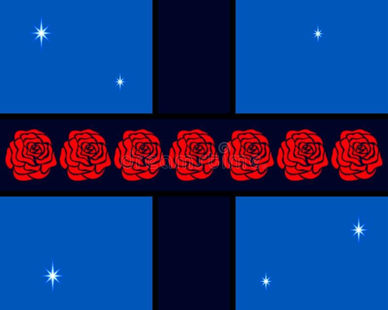 Roses sur la croix illustration libre de droits