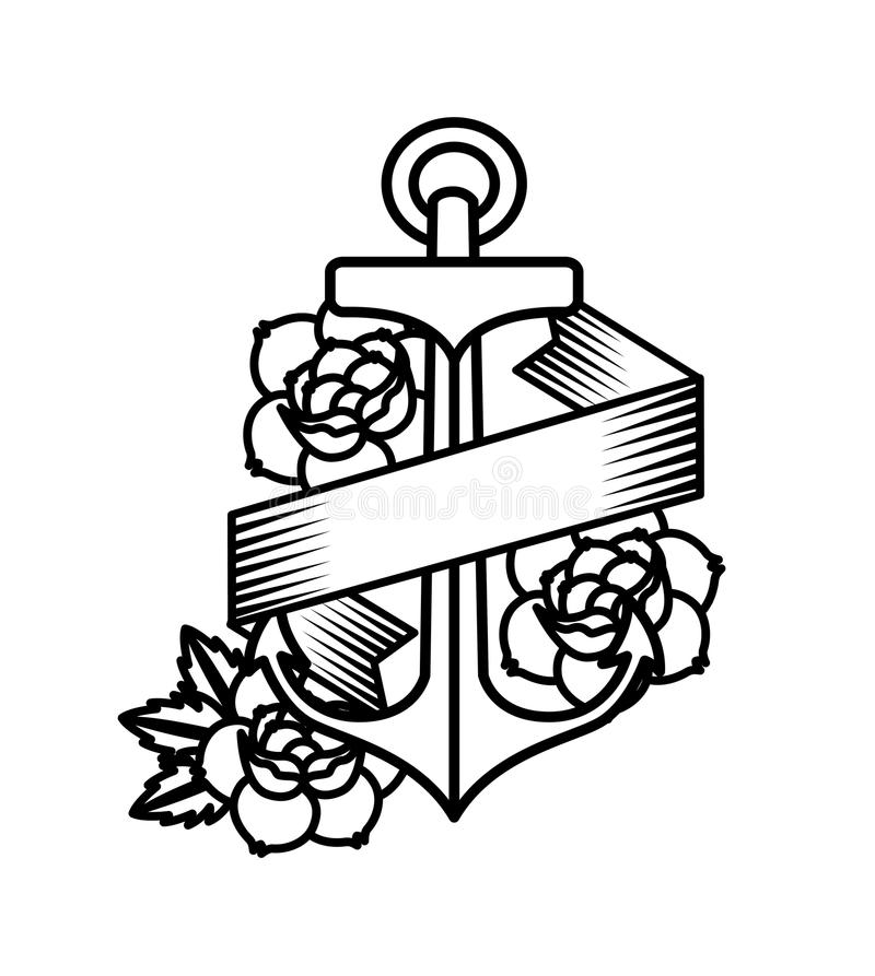 Roses tattoo design. Illustration eps10 graphic vector illustration