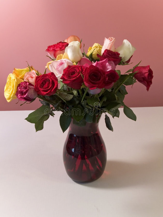 Download Roses In Vase stock image. Image of roses, pink, still - 520723