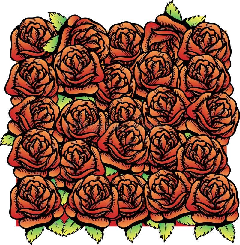 Download Roses Vector Illustration Background Pattern Stock Vector - Image: 6866379